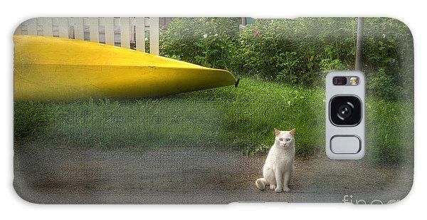 White Cat, Yellow Canoe Galaxy Case