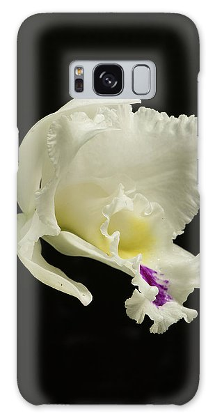 White Cattleya Orchid  Galaxy Case