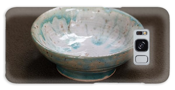White Ceramic Bowl With Turquoise Blue Glaze Drips Galaxy Case by Suzanne Gaff