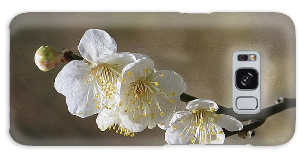 White Cherry Flower Galaxy Case