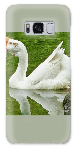 White Chinese Goose Galaxy Case by Susan Garren