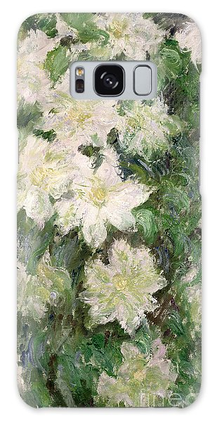 Spring Flowers Galaxy S8 Case - White Clematis by Claude Monet