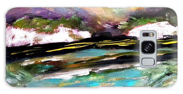 White Cliffs At Sunset Galaxy Case