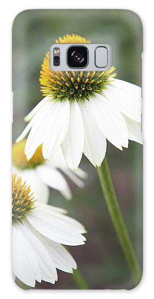 White Coneflower Galaxy Case