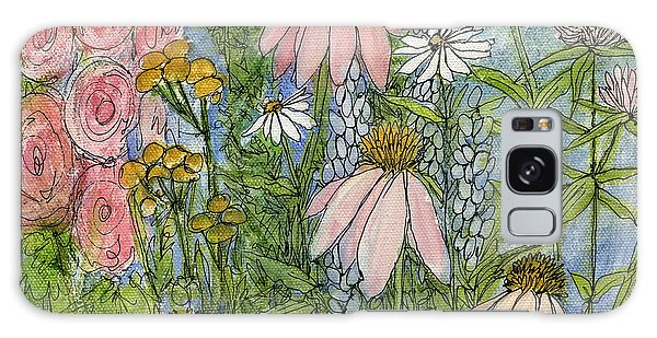White Coneflowers In Garden Galaxy Case by Laurie Rohner