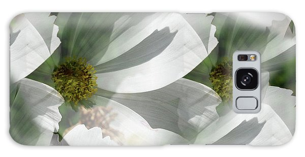 White Cosmos Petals Galaxy Case
