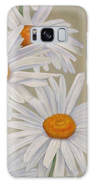 White Daisies Galaxy Case