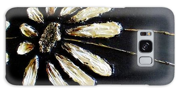 White Daisies Galaxy Case