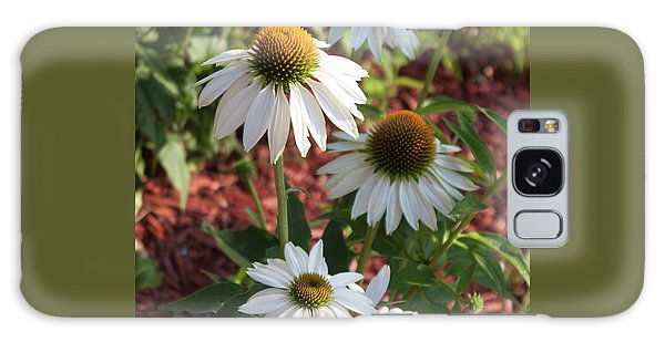 White Echinacea Galaxy Case by Suzanne Gaff