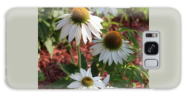 White Echinacea In Pastel Galaxy Case by Suzanne Gaff