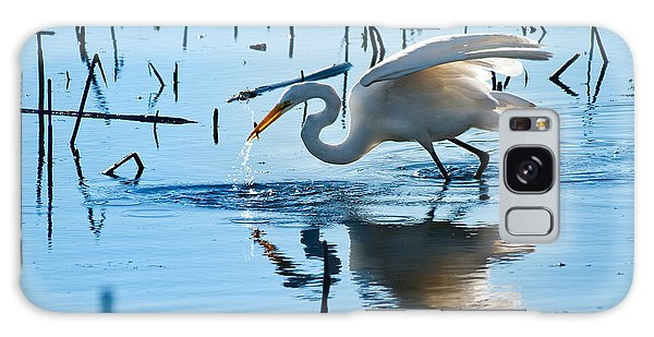 Egret Galaxy Case - White Egret At Horicon Marsh Wisconsin by Steve Gadomski