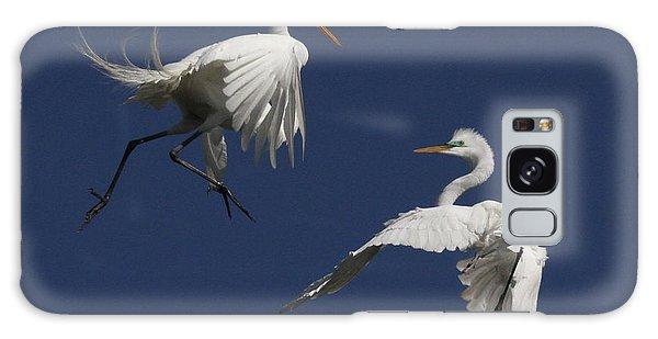 White Egret Ballet Galaxy Case by Myrna Bradshaw