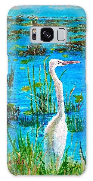 White Egret In Florida Galaxy Case
