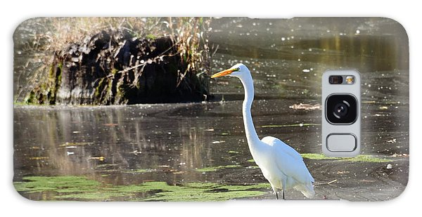 White Egret In The Shallows Galaxy Case