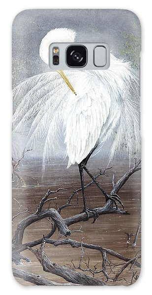 White Egret Galaxy Case
