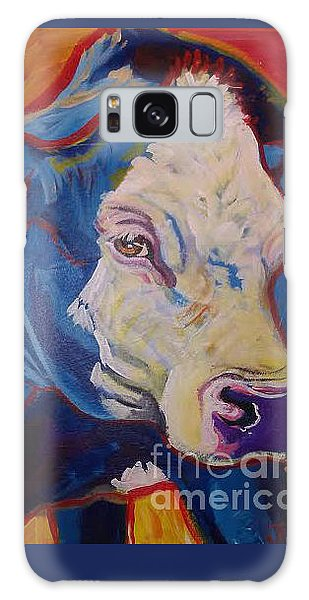 White Face Cow Galaxy Case by Jenn Cunningham
