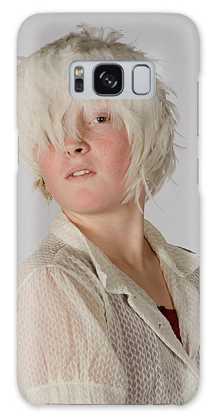 White Feather Wig Girl Galaxy Case