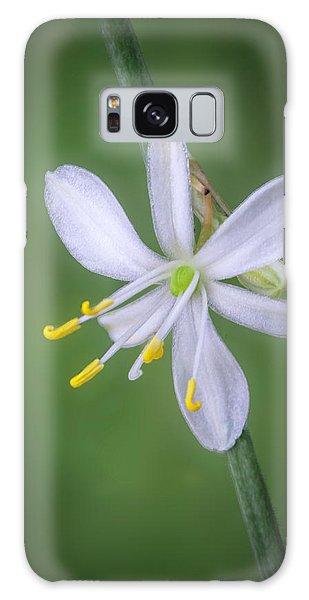 White Flower Galaxy Case