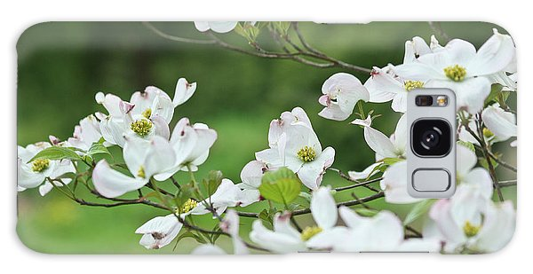 White Flowering Dogwood Galaxy Case