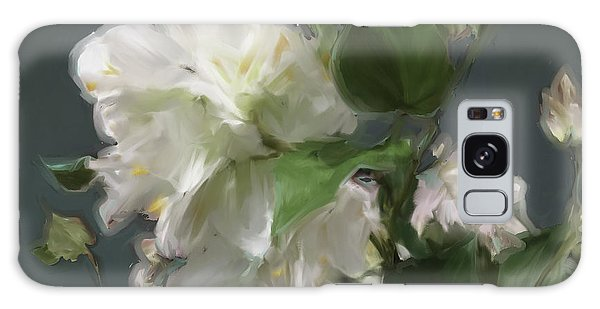 White Flowers 103 Galaxy Case