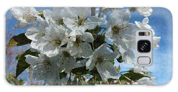 White Flowers - Variation 2 Galaxy Case