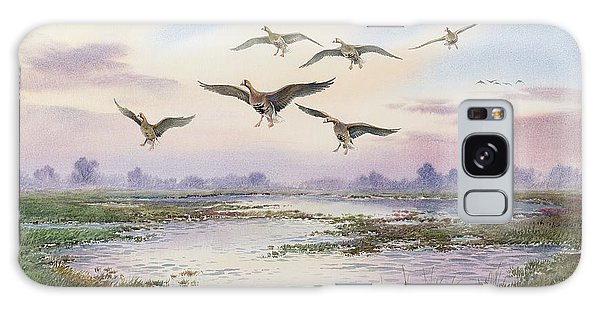 White-fronted Geese Alighting Galaxy Case