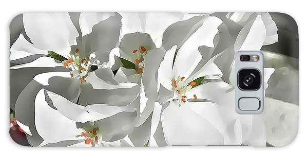 White Geraniums Galaxy Case