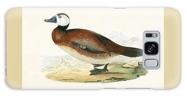 White Headed Duck Galaxy Case by English School