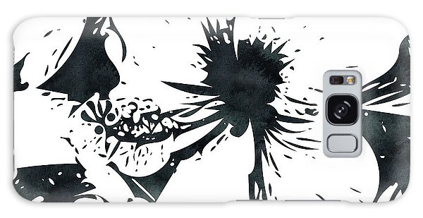 Hibiscus Galaxy Case - White Hibiscus- Art By Linda Woods by Linda Woods
