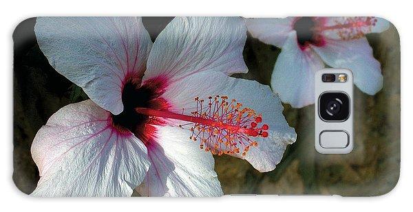 White Hibiscus Pair Galaxy Case