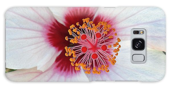 White Hibiscus Galaxy Case