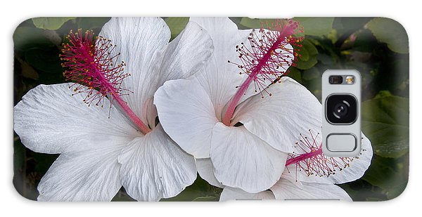 White Hibiscus Trio Galaxy Case