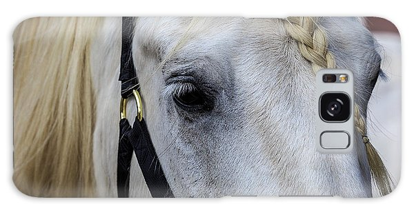White Work Horse Galaxy Case