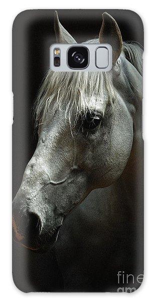White Horse Portrait Galaxy Case