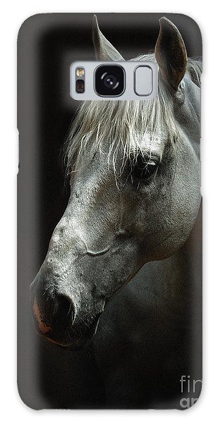 White Horse Portrait Galaxy Case