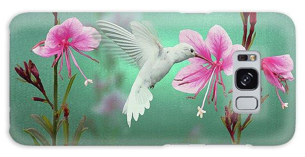 White Hummingbird And Pink Guara Galaxy Case