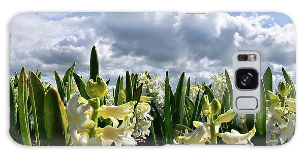 White Hyacinth Field Galaxy Case by Mihaela Pater