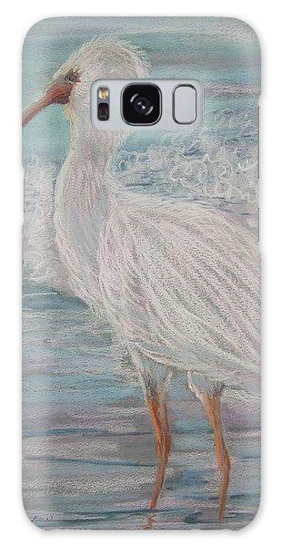 White Ibis At Dusk Galaxy Case by Sandra Strohschein