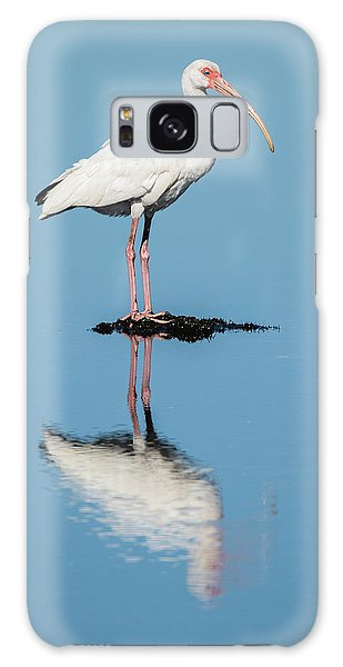 White Ibis Reflection Galaxy Case