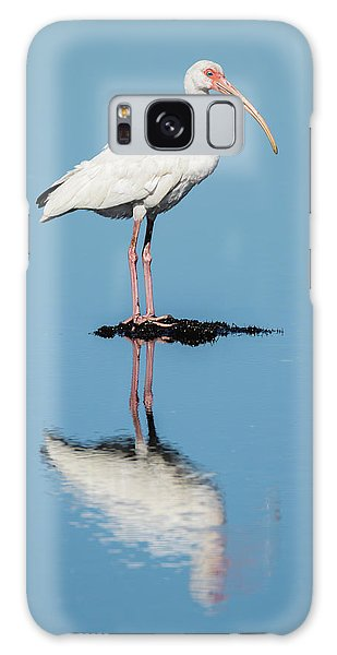 White Ibis Reflection Galaxy Case