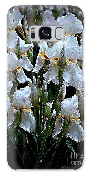White Iris Garden Galaxy Case