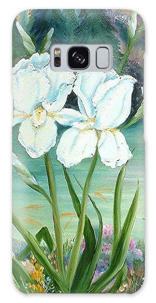 White Iris Love Galaxy Case