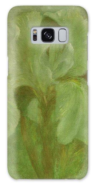 White Iris Painterly Texture Galaxy Case