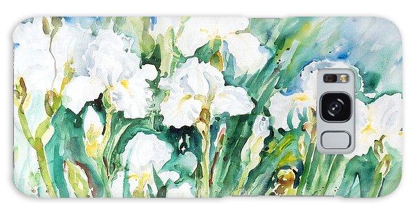 White Irises Galaxy Case