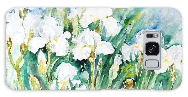 White Irises Galaxy Case by Alexandra Maria Ethlyn Cheshire