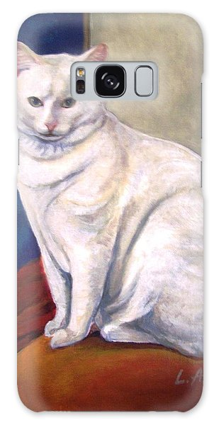 White Kitty Galaxy Case