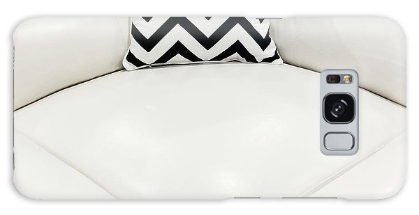 White Leather Sofa With Decorative Cushion Galaxy Case
