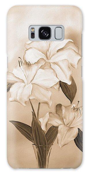 White Lilies Galaxy Case