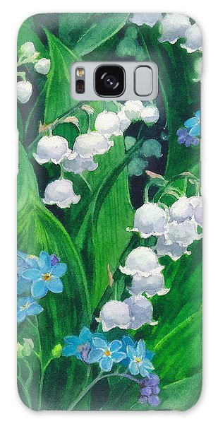 White Lilies Of The Valley Galaxy Case