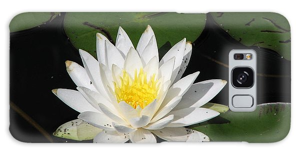 White Lily Pad Galaxy Case